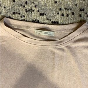 Zara rayon/cotton short sleeve crew neck t-shirt